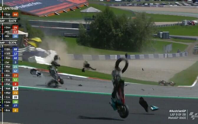 Avarii MotoGP Austria etapil
