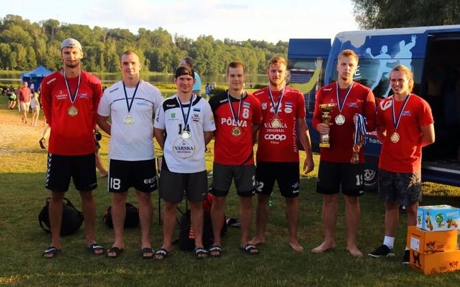 Meeste seas tuli rannakäsipalli Eesti meistriks Põlva Serviti 1.