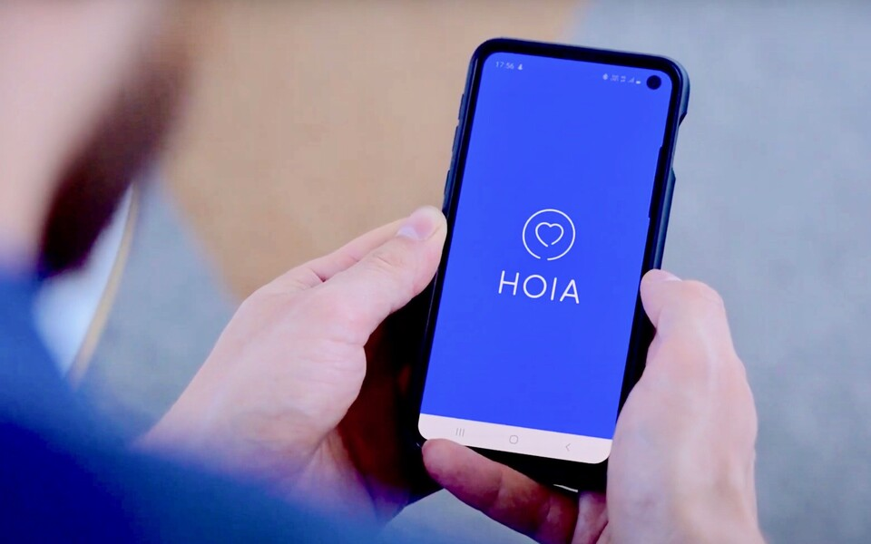 "The ""HOIA"" coronavirus tracing app launched by the Ministry of Social Affairs."