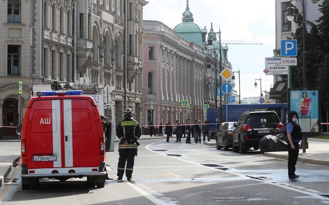 Pommiähvardusele reageerinud võimud sulgesid Moskva tänava.