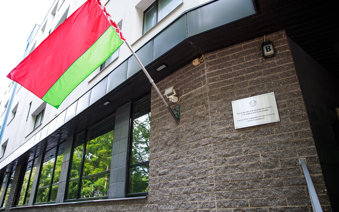 The Belarusian embassy in Tallinn, Estonia.