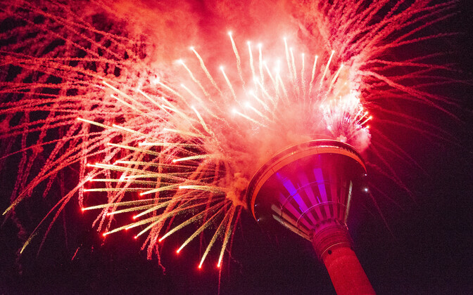 August 20 TV Tower fireworks display.