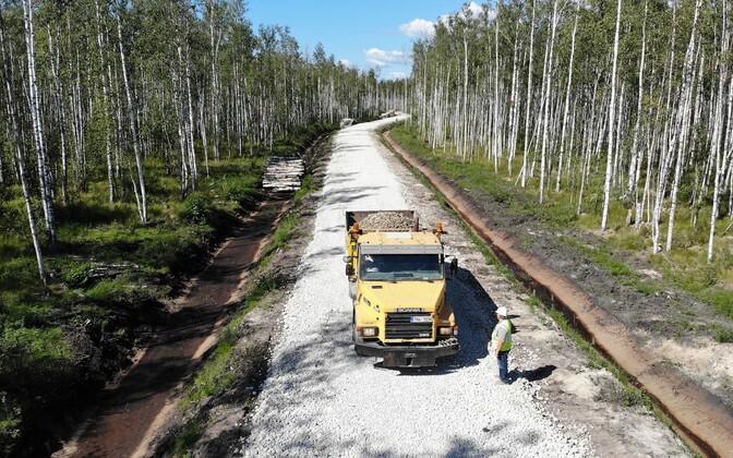 RMK forest roads in Ida-Viru County.