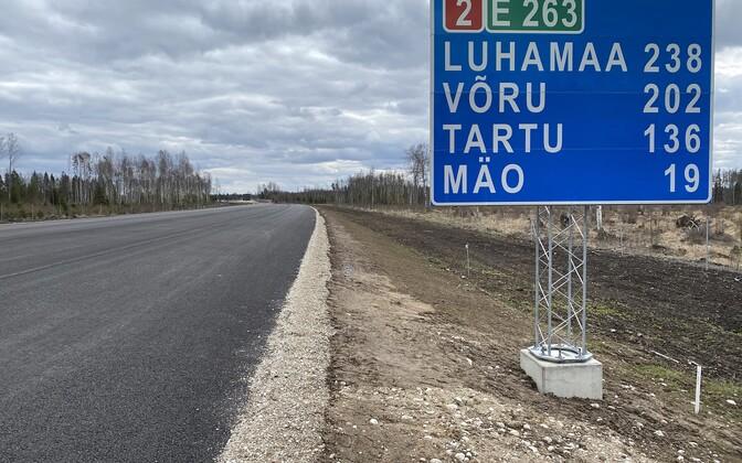 Road construction on Tallinn-Tartu road.