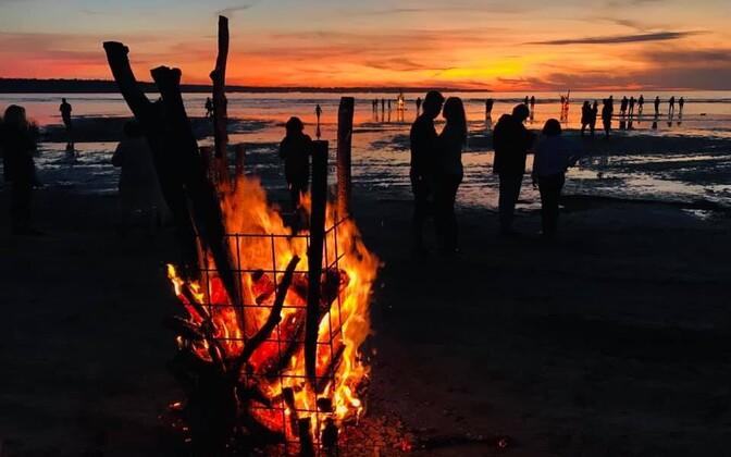 Ночь древних огней на пляже Какумяэ, 2019 год.