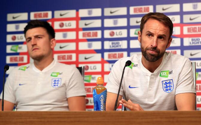 Harry Maguire ja Gareth Southgate 2018. aastal