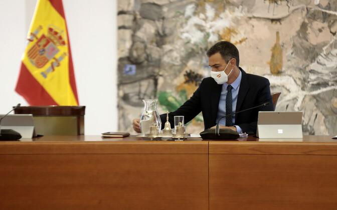Hispaania peaminister Pedro Sanchez valitsuse istungil