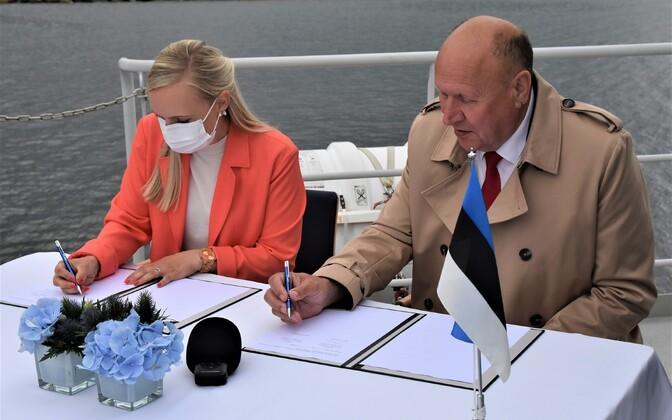 Soome siseminister Maria Ohisalo ja Eesti siseminister Mart Helme