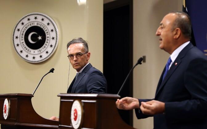 Saksamaa välisminister Heiko Maas ja Türgi välisminister Mevlut Cavusoglu