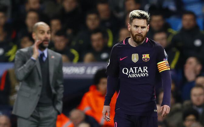 Pep Guardiola ja Lionel Messi