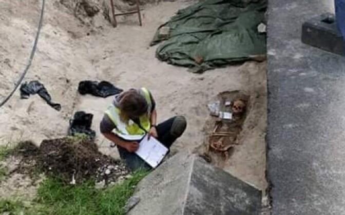 Kaevamiste käigus leitud luustik