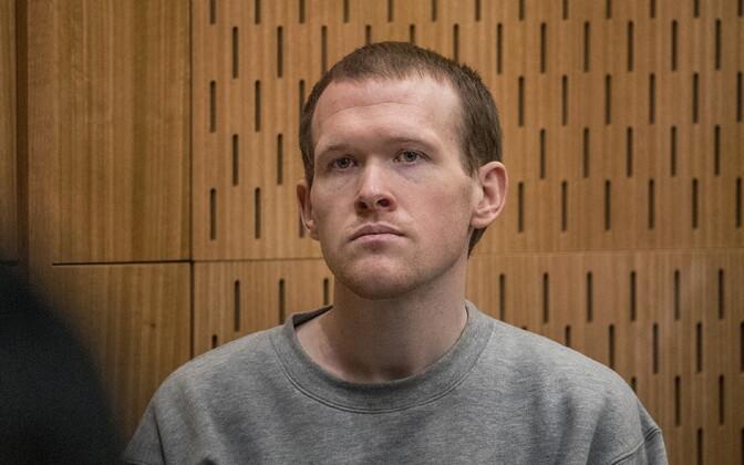 Брентон Таррант в зале суда.