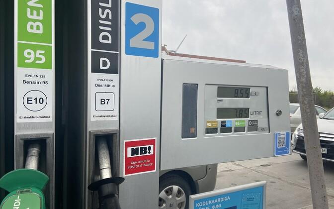 Autokütuse hinnad Alexela tanklas mais 2020.