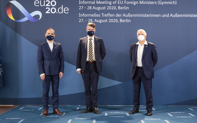 Minister of Foreign Affairs Urmas Reinsalu at an informal meeting of European Union foreign affairs ministers in Berlin in Berlin.