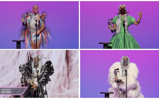 Lady Gaga kandis iga järgmise tänukõne ajal eri kostüümi.