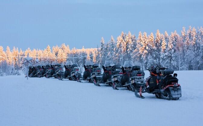 Из-за коронавируса поток туристов в Лапландию резко снизился. Иллюстративная фотография.