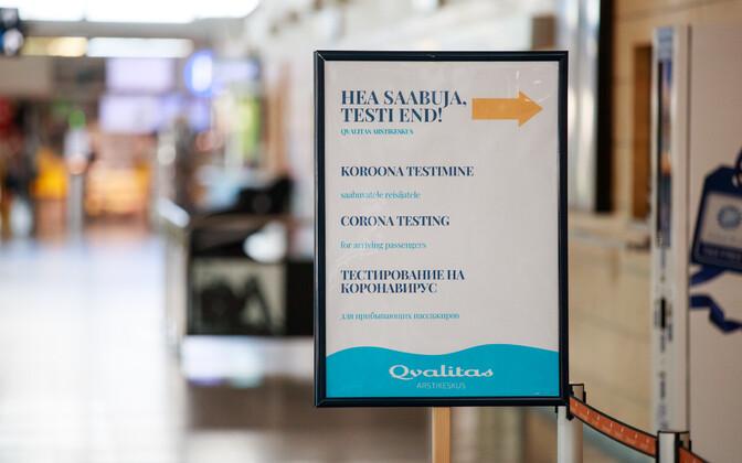 Coronavirus testing starts at Tallinn Airport.