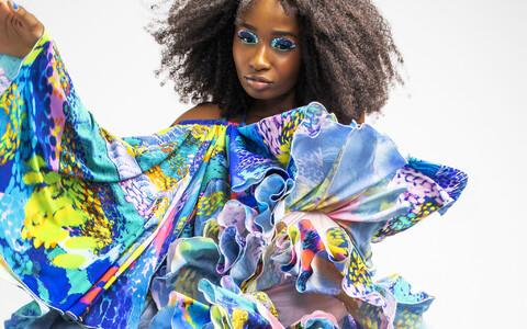 Näide Karl Korsari loomingust, kes valiti aasta nooreks tekstiilikunstnikuks.