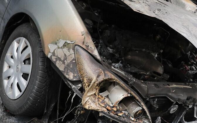 Сгоревший автомобиль. Иллюстративная фотография.