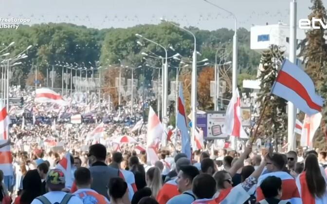 Массовые протесты против президента Белоруссии Александра Лукашенко.