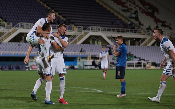 Bosnia ja Hertsegoviina lõpetas Itaalia ajaloolise võiduseeria