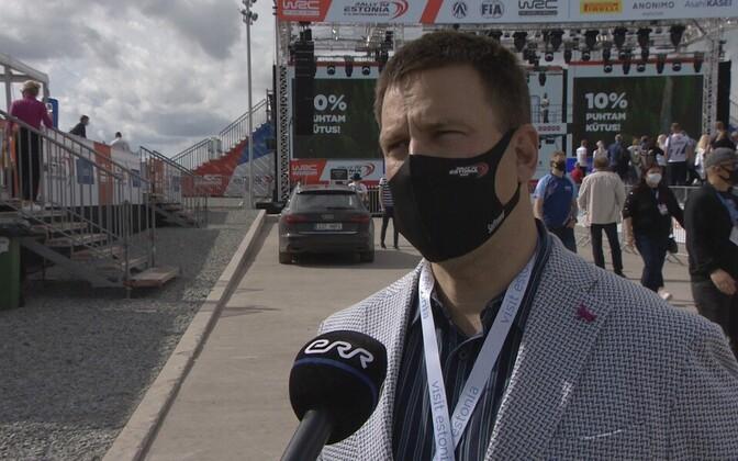 Jüri Ratas attending Rally Estonia 2020.