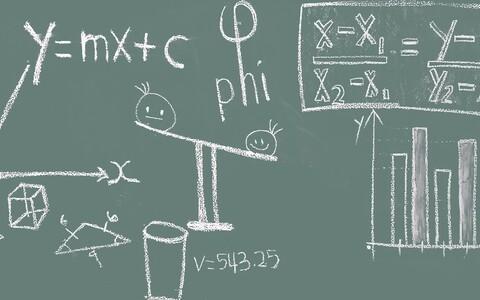Matemaatikaklassi tahvel.