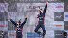 Ott Tänak ja Martin Järveoja Rally Estonia võitu tähistamas