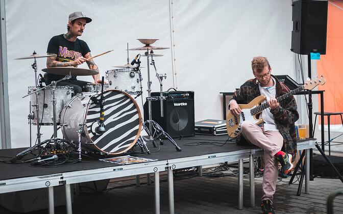 Musicians at TMW's Flea Market stage @Fotografiska.