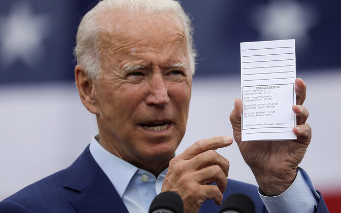 Presidendikandidaat Joe Biden kampaaniaüritusel.