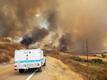 Maastikupõleng Californias. Tulekahju tõkestas tee San Diego maakonnas.