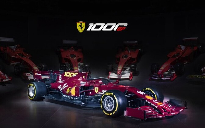 Ferrari võistlusmasin tiimi tuhandendaks F1 GP-etapiks