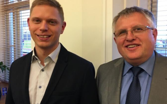 Paide Mayor Priit Värk Fatherland and council chairman Aivar Tubli.