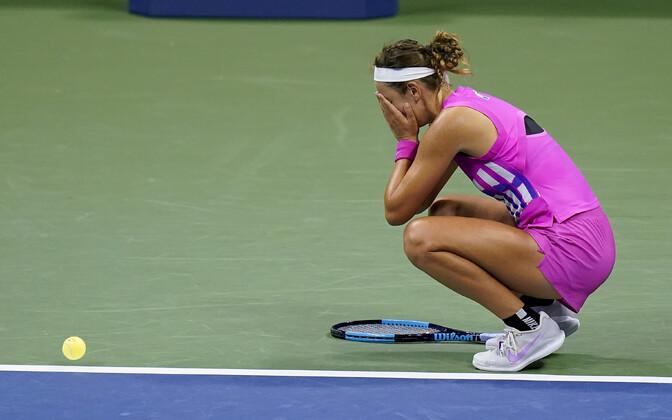 Viktoria Azarenka pärast Serena Williamsi alistamist.