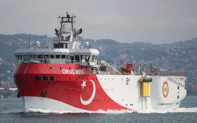 Türgi uurimislaev Oruc Reis.