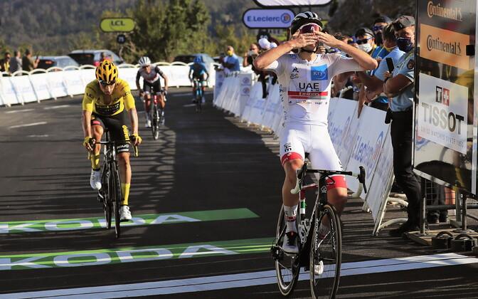 Tour de France'i 15. etapi võitis Tadej Pogacar