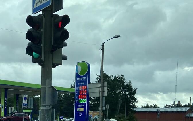 Autokütuste hinnad Neste Pääsküla tanklas 14. septembril.