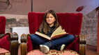 Euroopa Kooli õpilased salvestavad keelemängu teleklippi koos õpetaja Ivi Rausiga