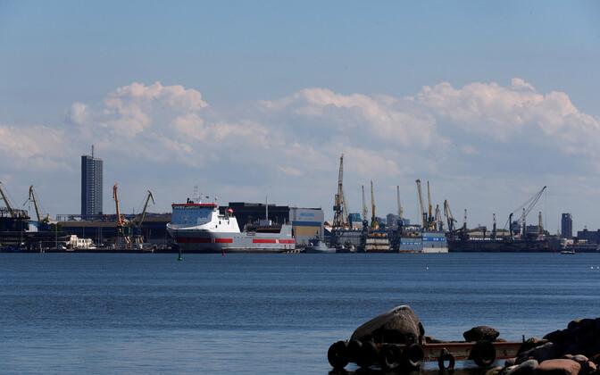Klaipeda sadam.