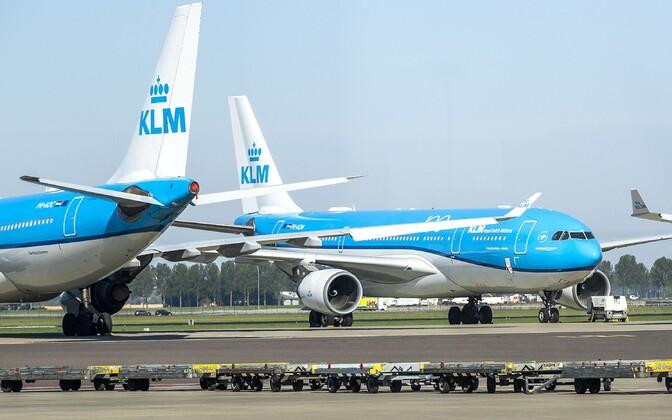 KLM-i lennukid Hollandis Schipholi lennuväljal.