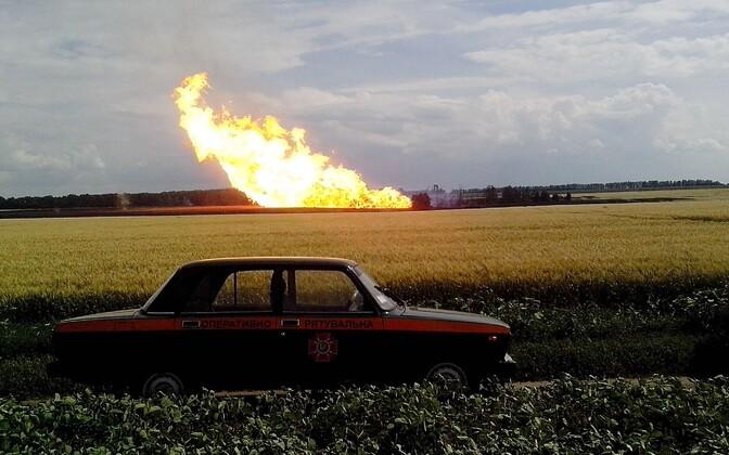 Взрыв на газопроводе в 2014 году.