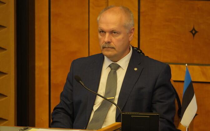Speaker of the Riigikogu Henn Põlluaas (EKRE).