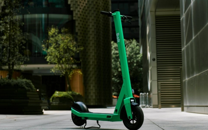A Bolt e-scooter (photo is illustrative).