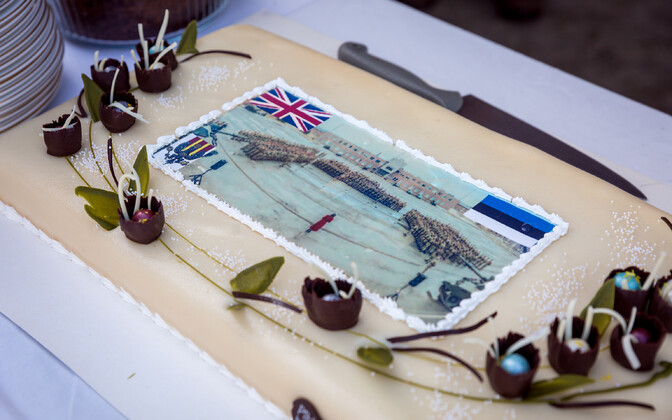 A cake welcoming a previous British Army eFP rotation.