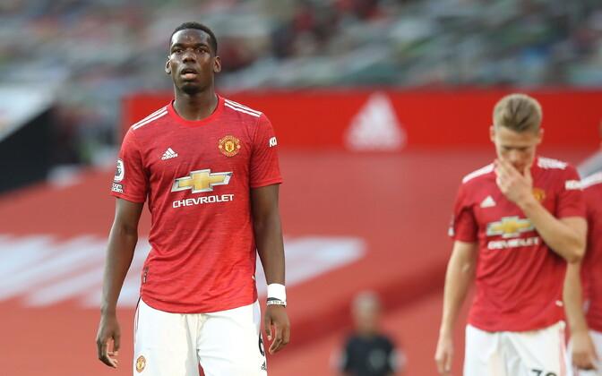 Manchester Unitedi mängijad pärast kaotust Crystal Palace'ile