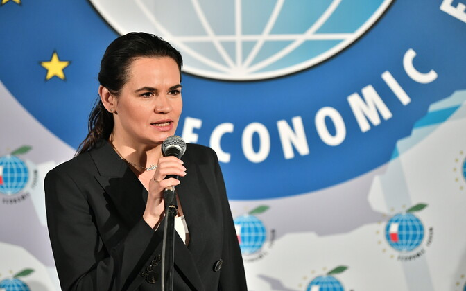 Valgevene opositsiooniliider Svjatlana Tsihhanovskaja.