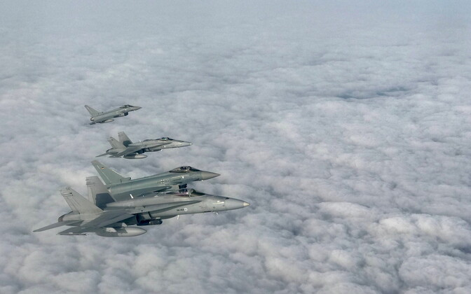 NATO's two-day air force exercise Ramstein Alloy.