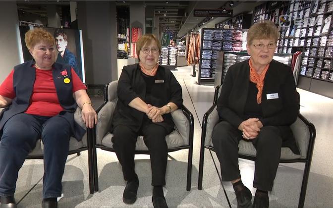 Екатерина, Айли и Марика (слева направо) проработали в Kaubamaja более 50 лет.