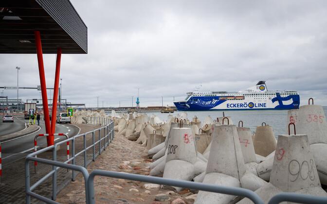 Ferry at the Port of Tallinn.