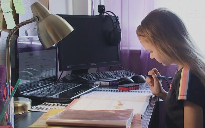 В единичных школах дистанционно учатся иногда и дети второй ступени основной школы. Иллюстративная фотография.